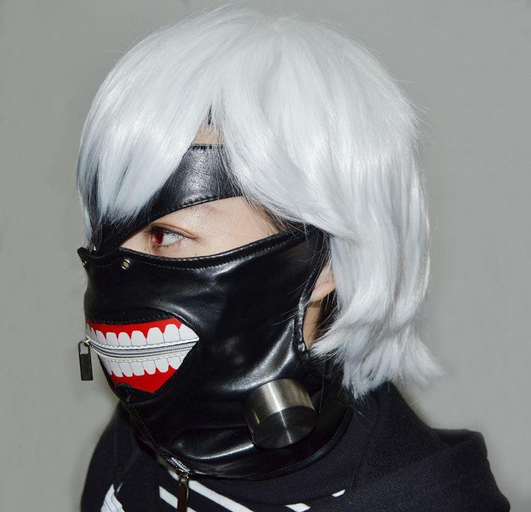 Tokyo Ghoul Kaneki Ken Unisex Premium Hoodie Jacket or Cosplay Costume Mask