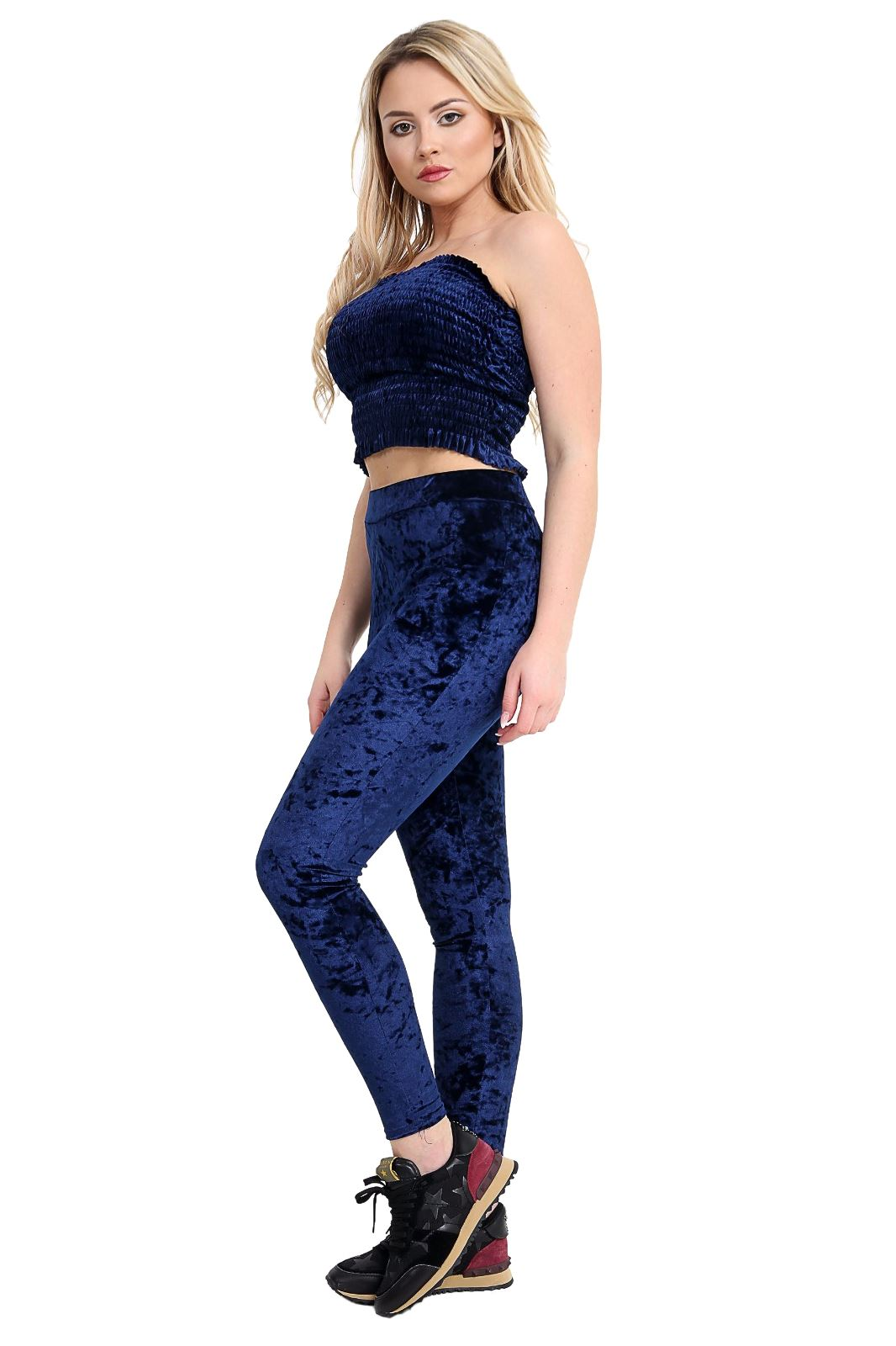 Nouveau Haut Velours Velours Pleine Longueur Extensible Leggings Pantalon Pantalon
