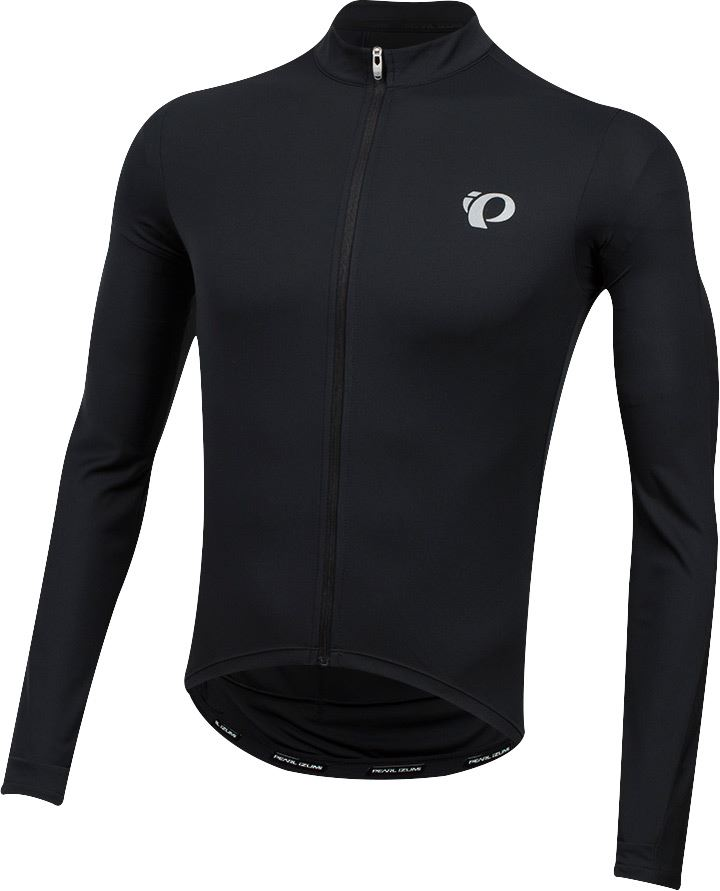 PEARL iZUMi Select Pursuit Long Sleeves Jersey Black Smoked Pearl Diffuse