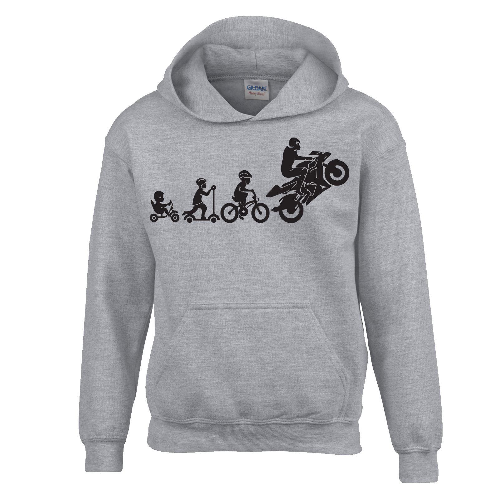 Bike Evolution SweatShirt Kids Adults Hoodie Inspired Wear Fancy New Dress Top