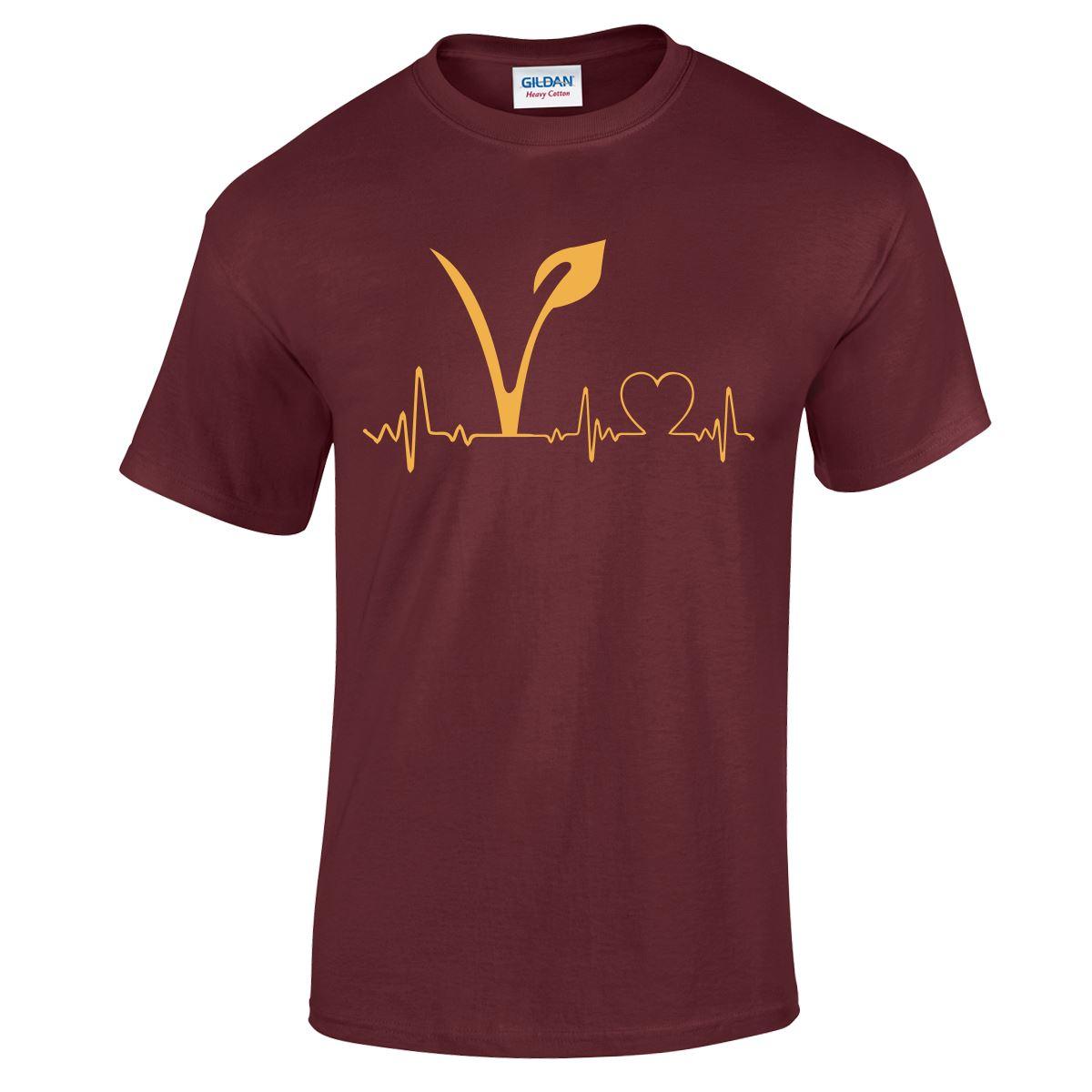 Vegetarian Vegan Hipster Heart Top Xmas TEE Tumblr Lifeline Youth Mens T Shirt
