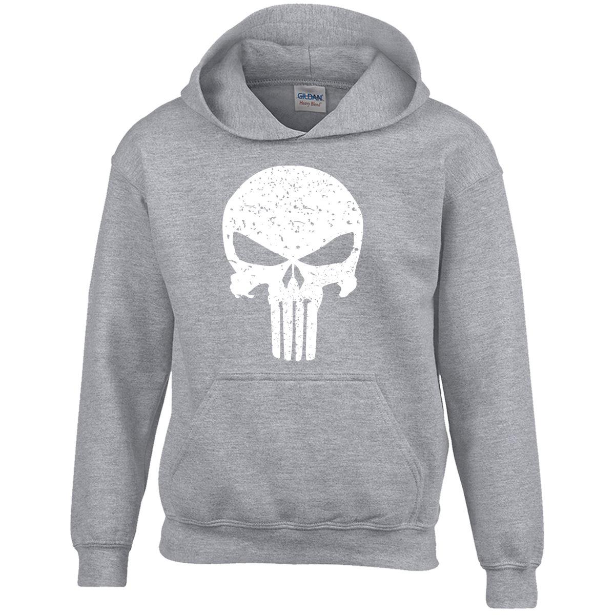 Punshier Punisher Youth Mens Top GIFT Hooded Dress Marvel Comics Bodybuilding