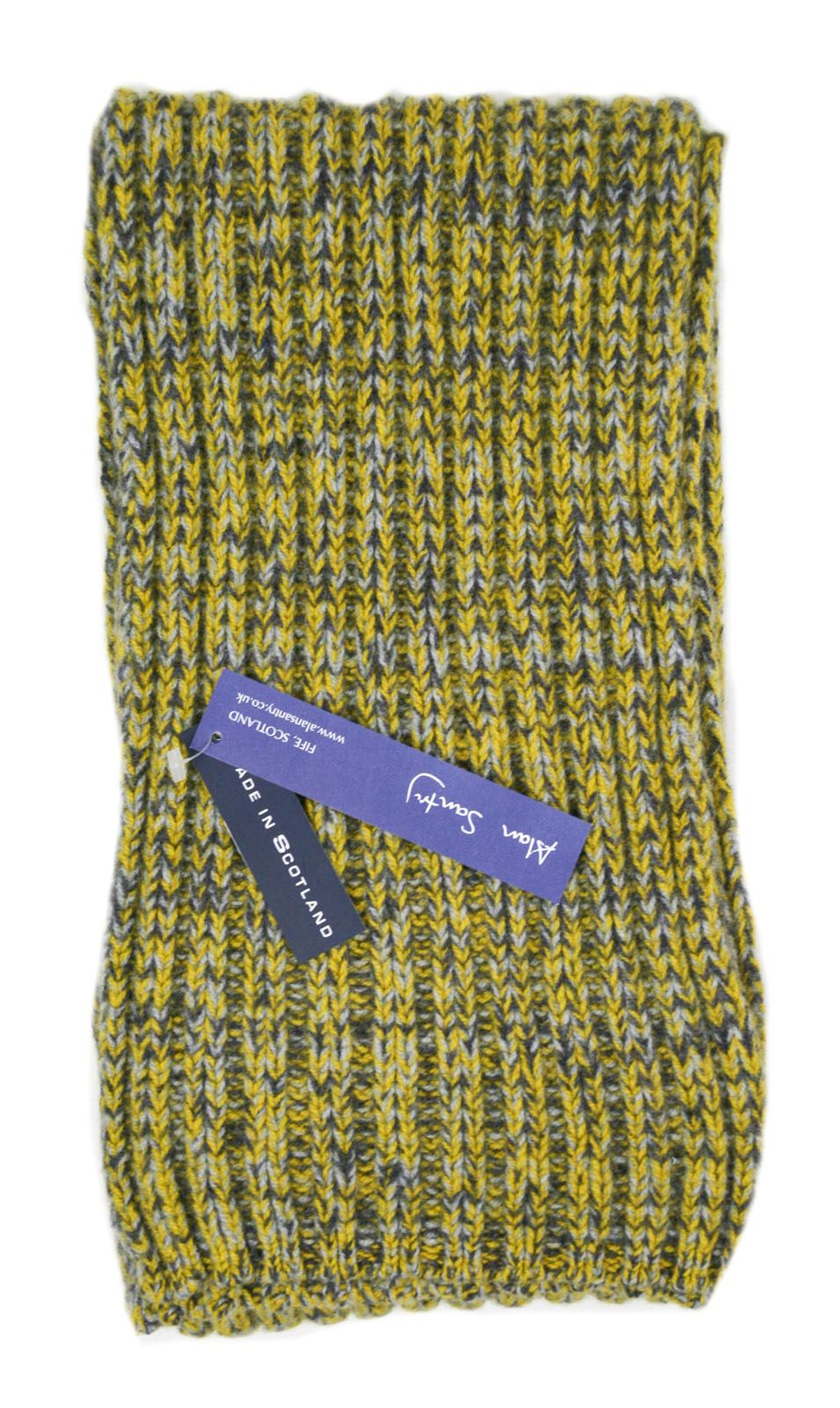 Laine d/'Agneau Tricot Long Écharpe-Canna-Jaune ou bleu-made in Scotland