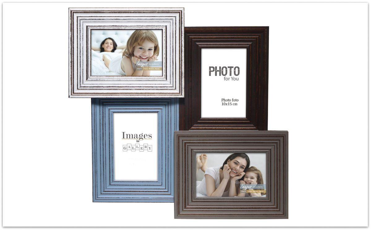 Rustique Shabby Chic Kids Couleur Noir /& Blanc Multi Porte-Photos Famille Cadre