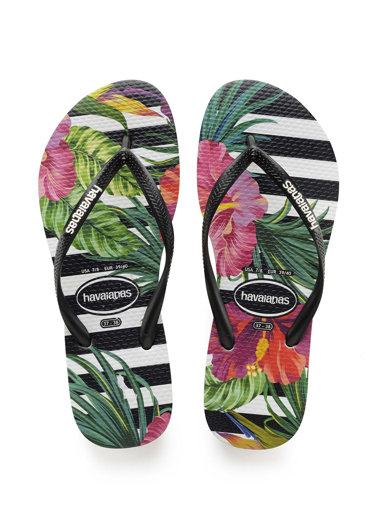 Havaianas Slim Tropical /& Floral Print Flip Flops Summer Beach Pool Sandals
