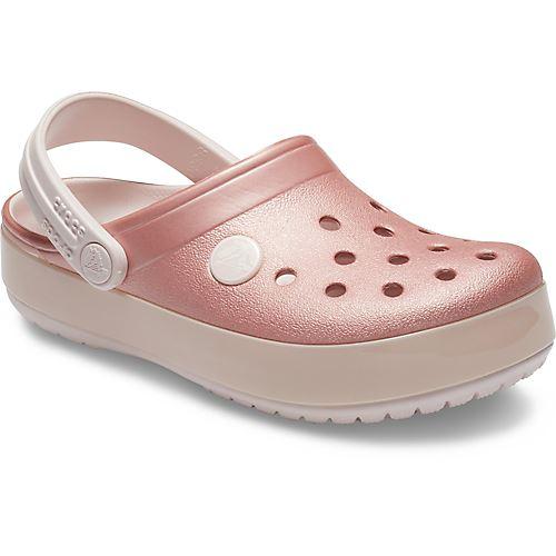 Crocs Crocband Graphic Kids Clogs Shoes Relaxed Fit Sandals Camo Flamigo Print