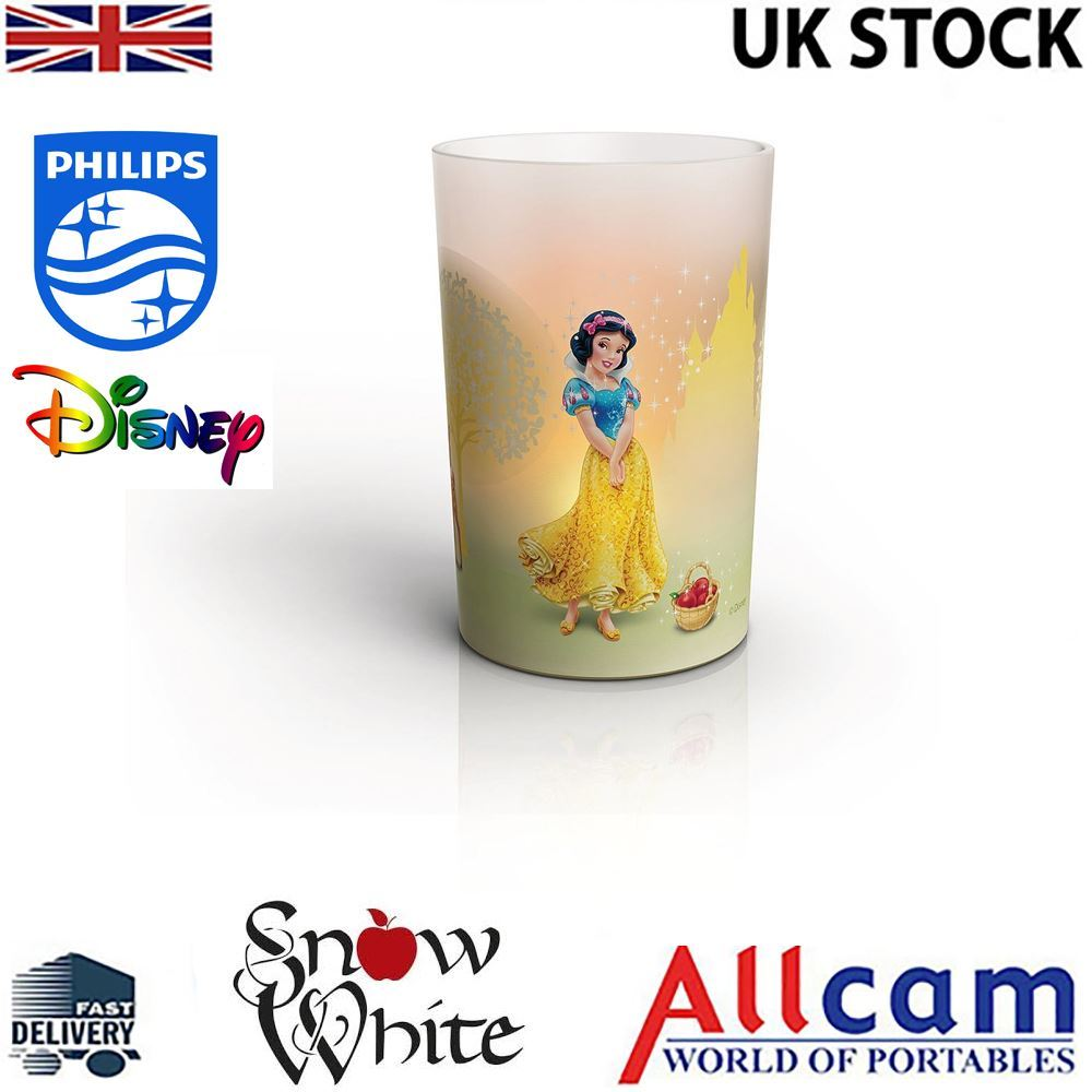 Philips Disney Princess LED Candle Children's Night Light Snow White w/ Charger