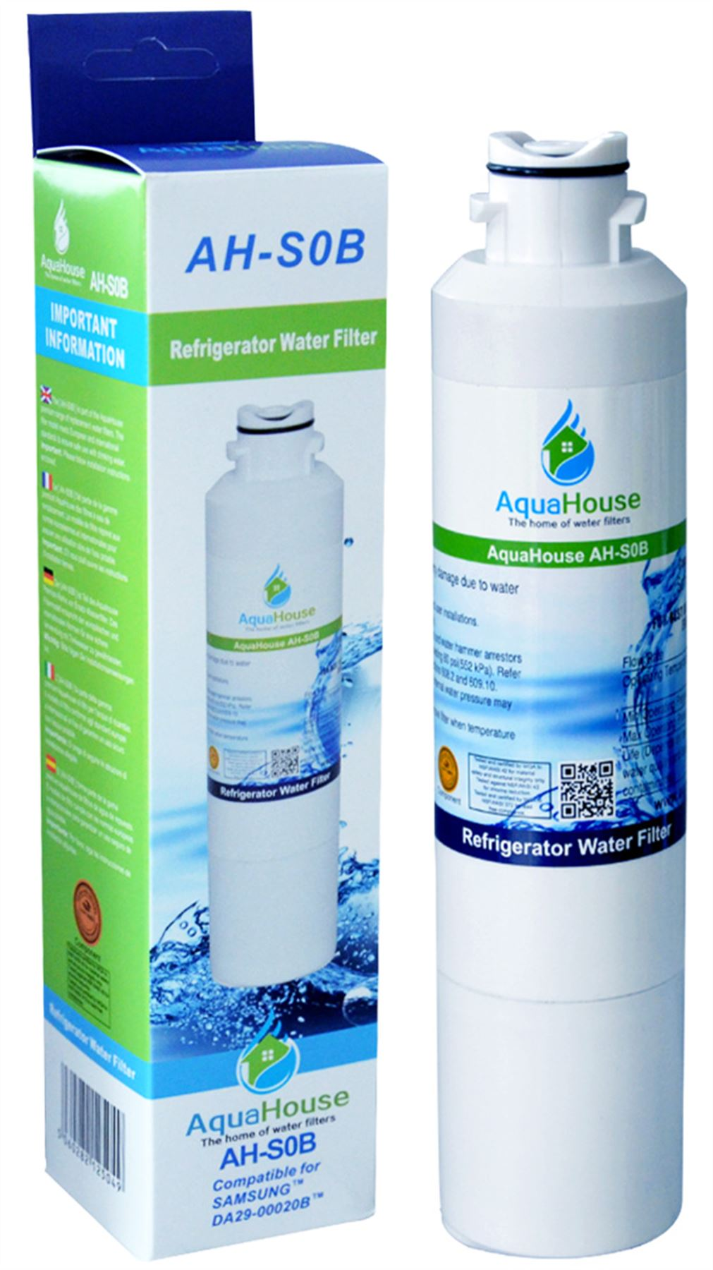 Filtro acqua interno compatibile per Frigorifero Congelatore Samsung da29-00020a Aquapure
