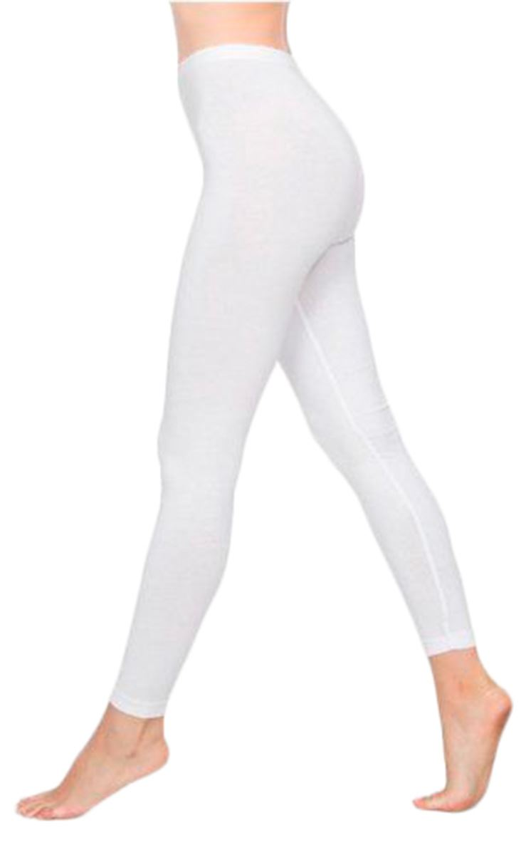 Womens Plain Cotton Full Length Legging Stretchy Ladies Fancy Dress Parties SALE