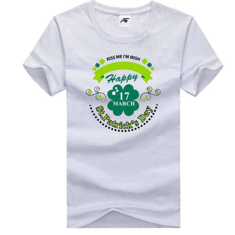 Happy Saint Patricks Day 17 March Printed Top Womens Girls T Shirt Cotton Tee