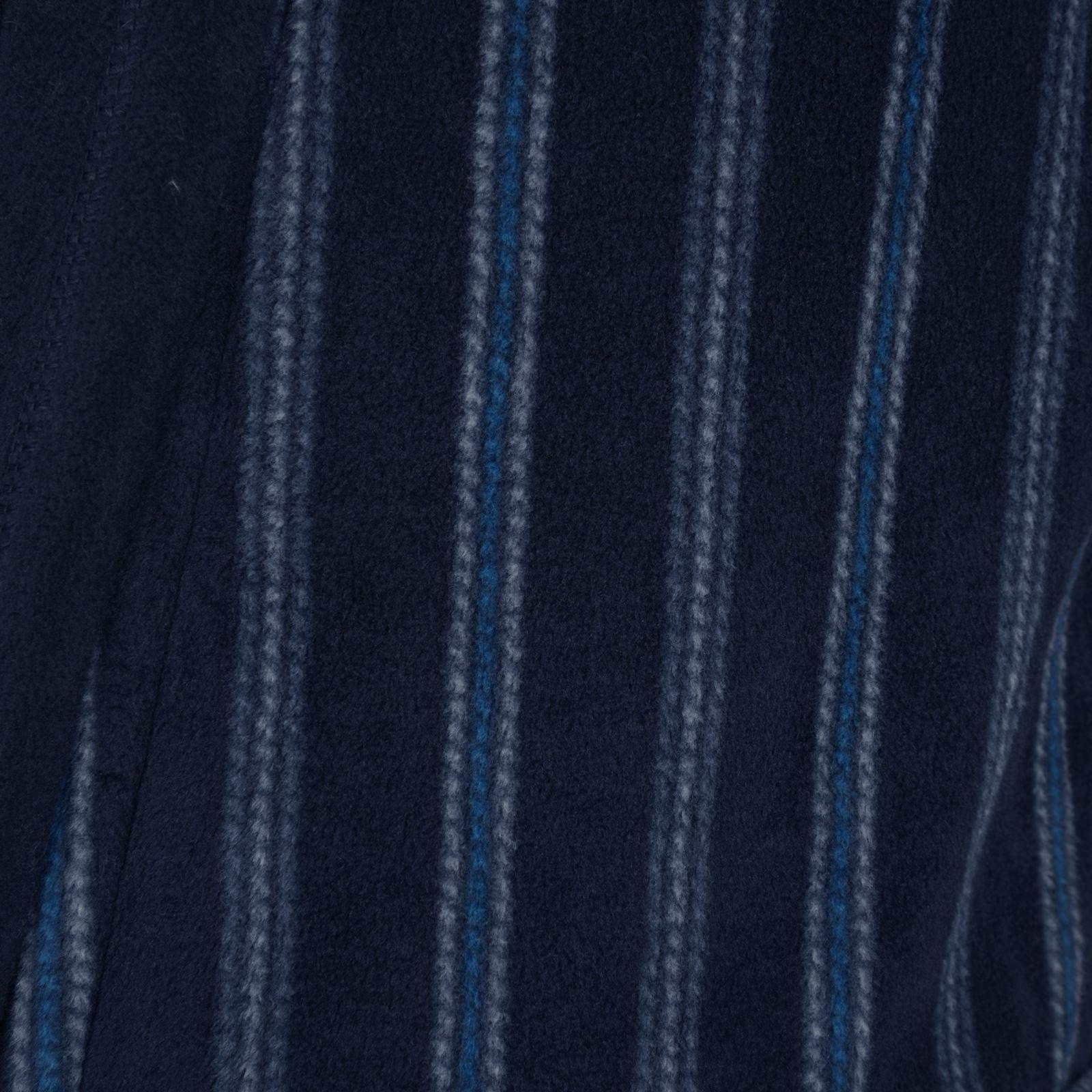 Luxury Men/'s Fleece Bathrobe Vestaglia A RIGHE nero o blu scuro RRP £ 25.00