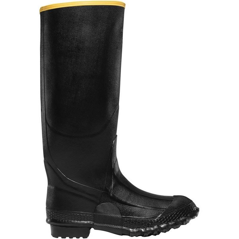 """LaCrosse ZXT 267180 Mens 16"""" Black Rubber Waterproof Knee Boots"""
