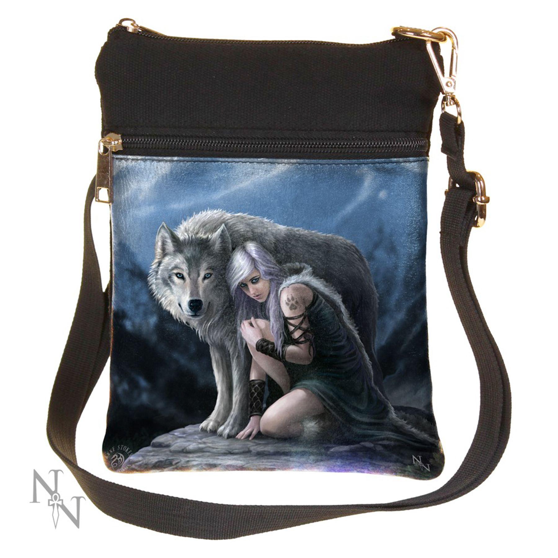 Nemesis Now Shoulder Bag 23cm High Wolf Tablet School Bag Handbag Gothic Fantasy