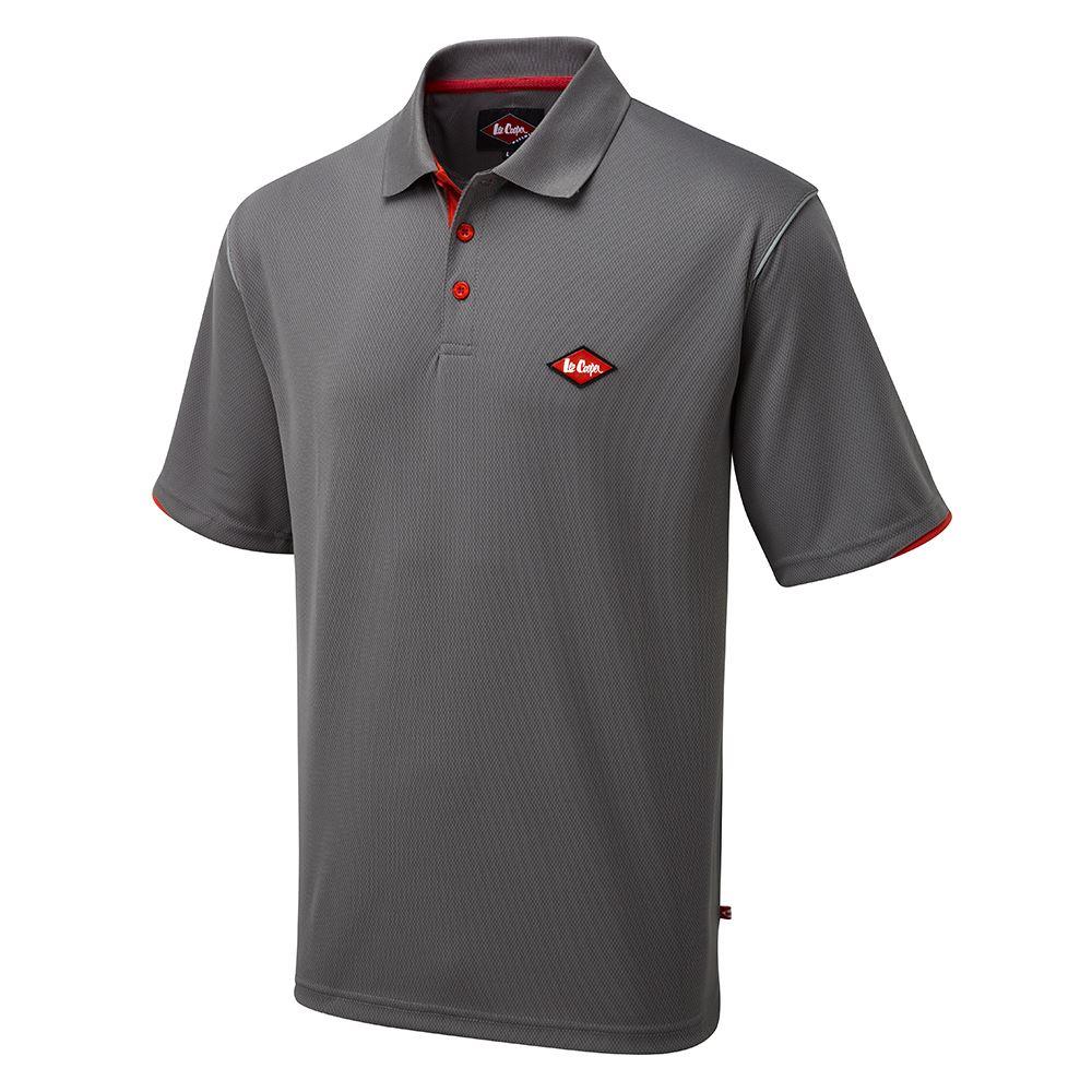 Lee Cooper Workwear Homme à Manches Courtes Classique Contraste Polo Shirt homme taille M-3XL