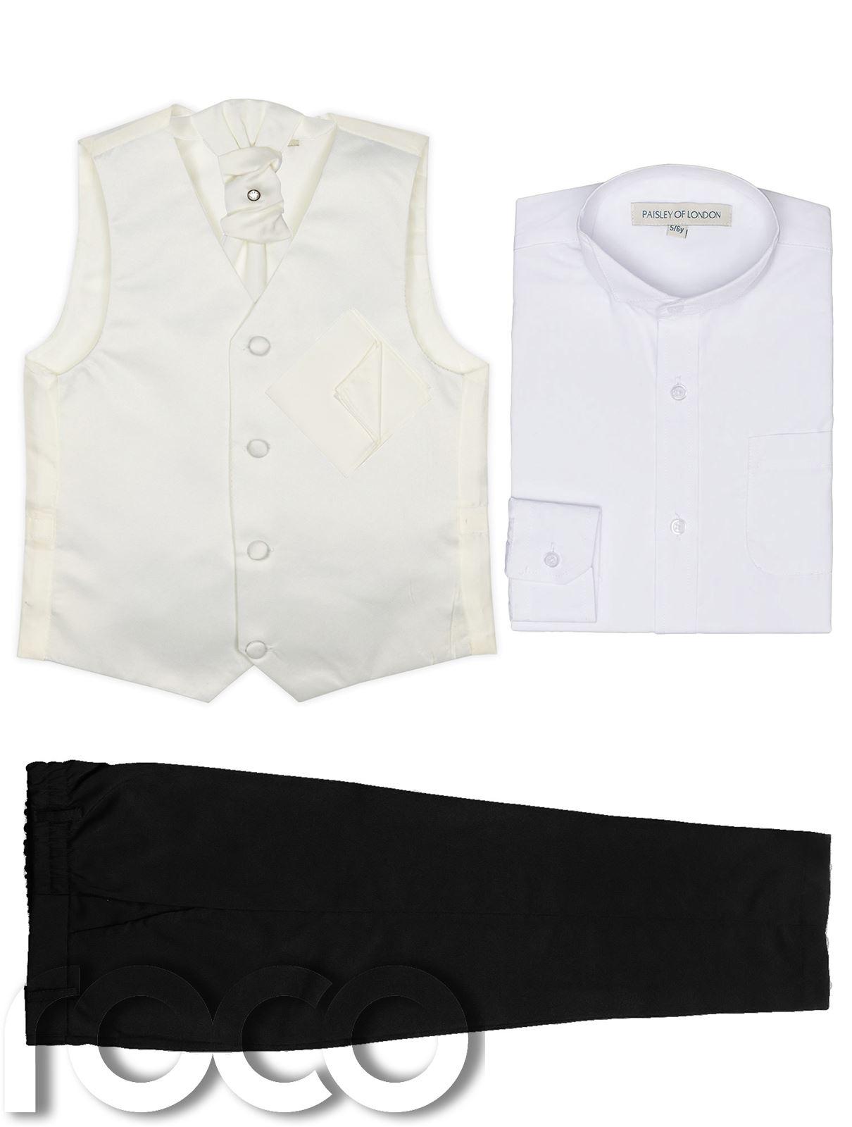 Black Trousers Page Boys Suits Boys Waistcoat Suit Boys Wedding Suit