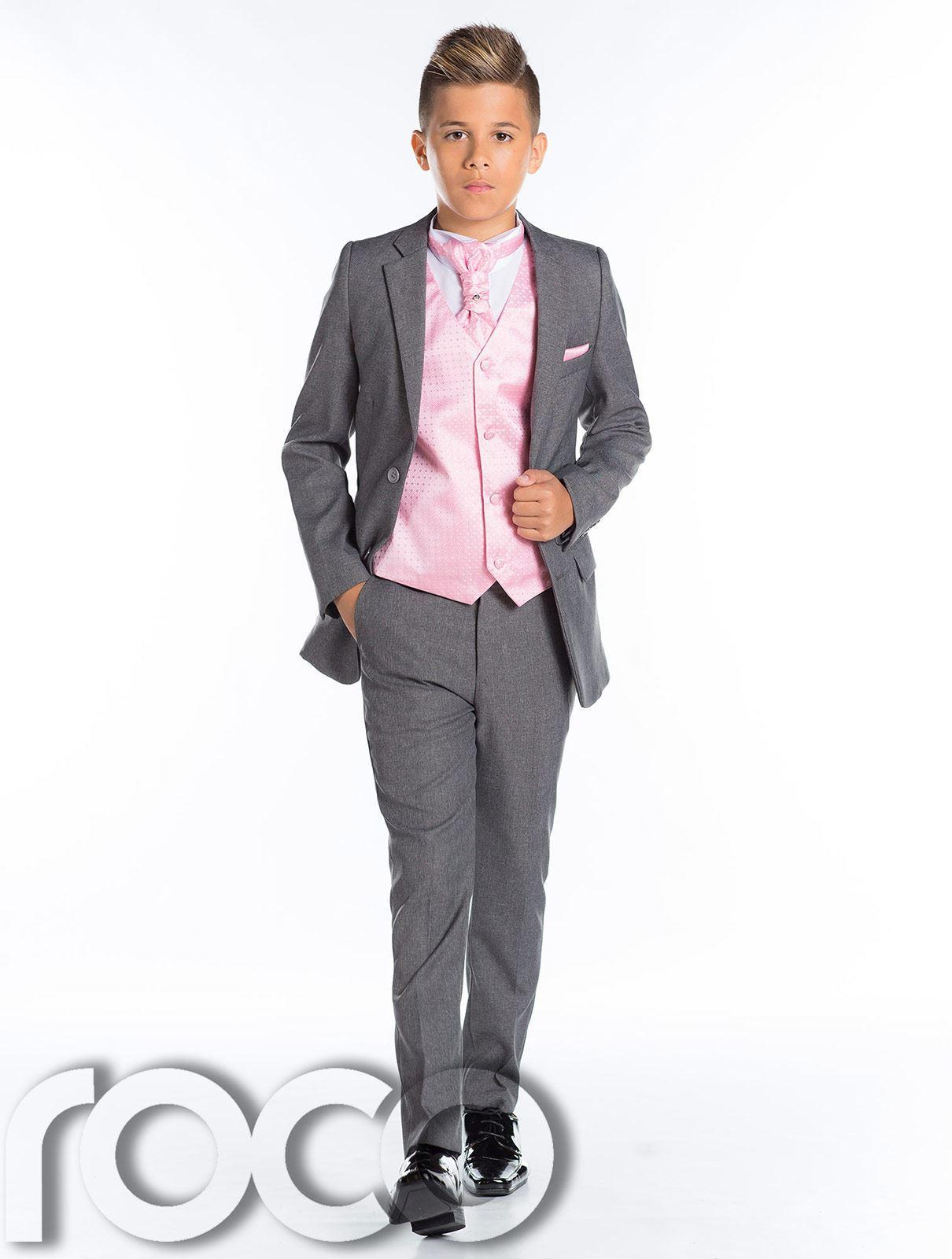 Garçons costume de mariage slim costume garçons gris suit Costume Gris garçons costume de bal