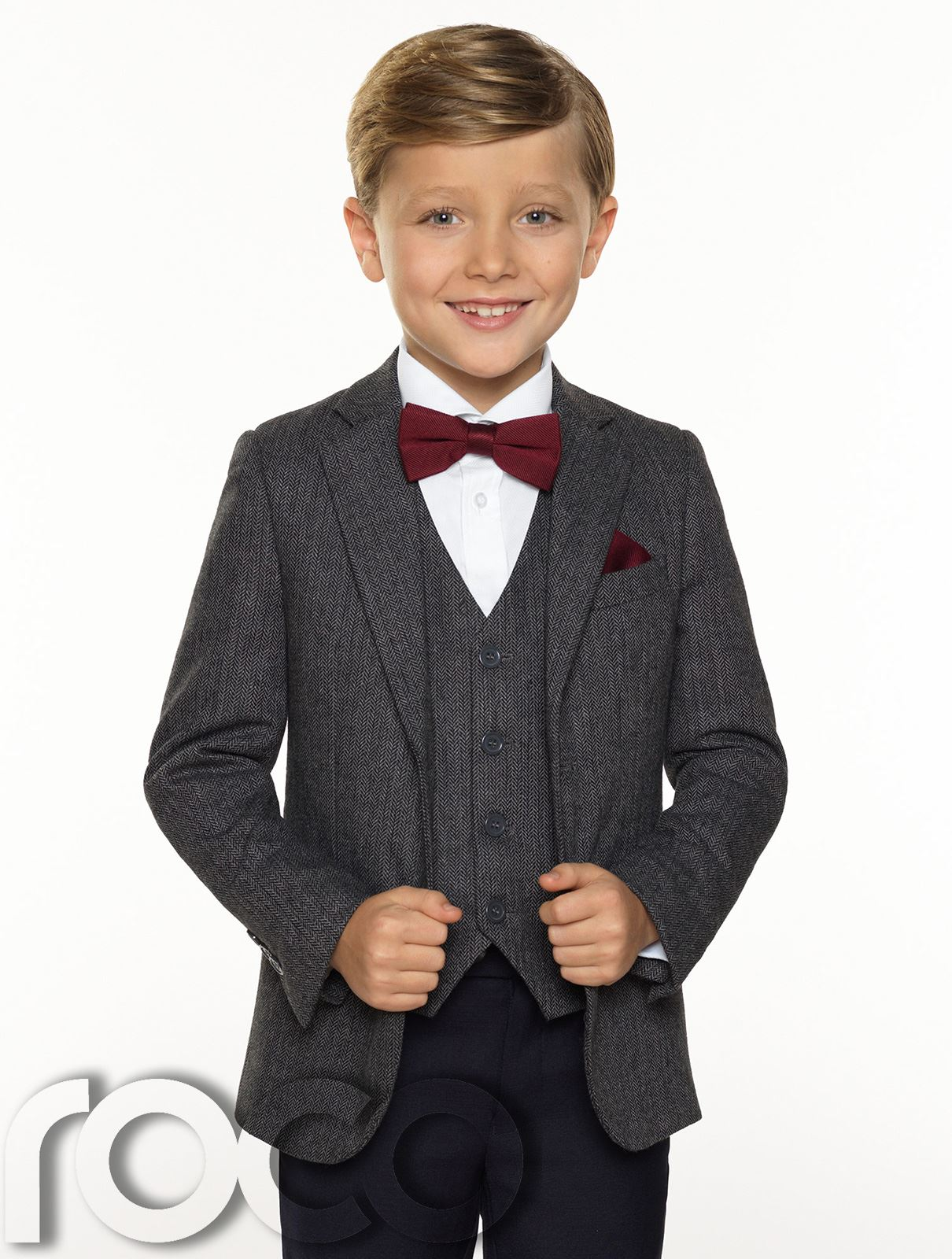 Boys Tweed Waistcoat Boys Grey Tweed Jacket Set Boys Herringbone Jacket