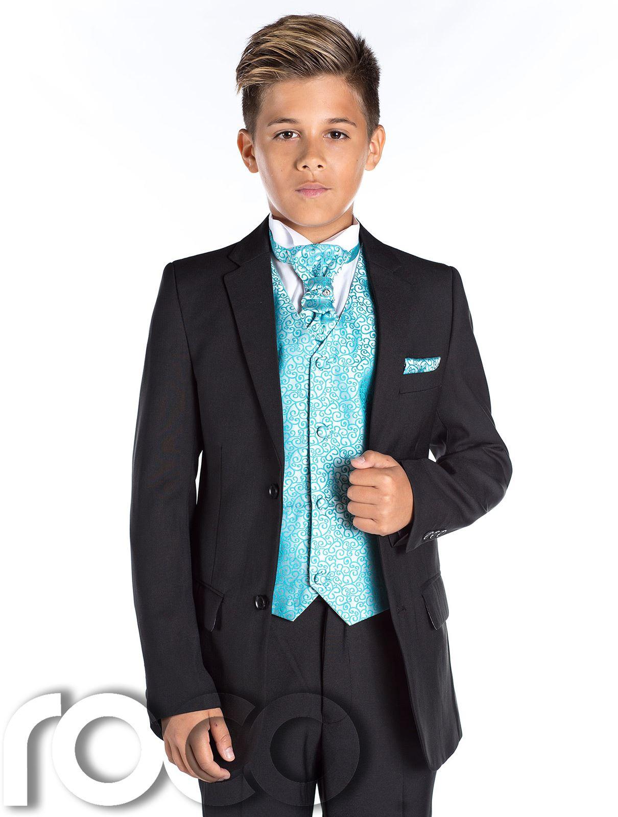 Boys Black Wedding Suit, Page Boy Suit, Boys Formal Suit, Black Suit