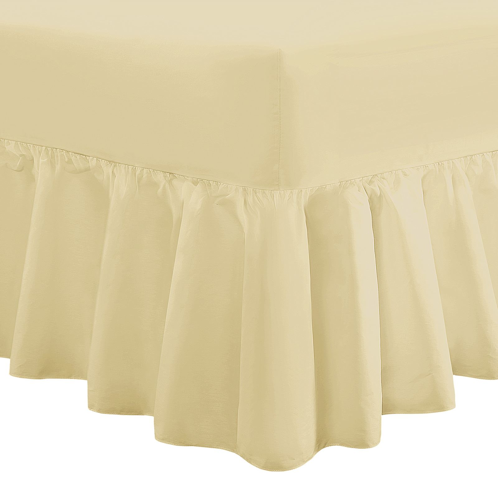 100/% Cotton Percale Fitted Sheet Flat Sheet Frilled Valance Sheet 200 Thread