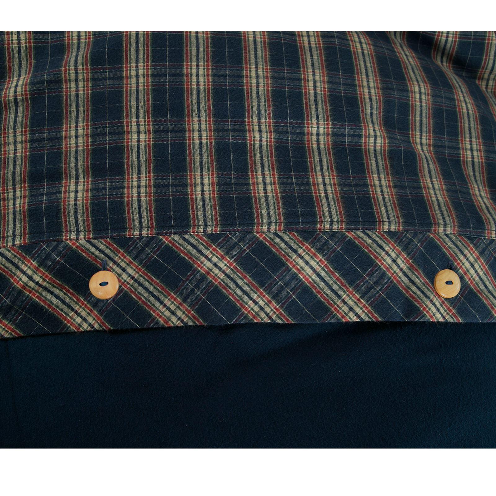 Highland Woven Tartan Check Brushed Cotton Thermal Flannelette Duvet Cover Set