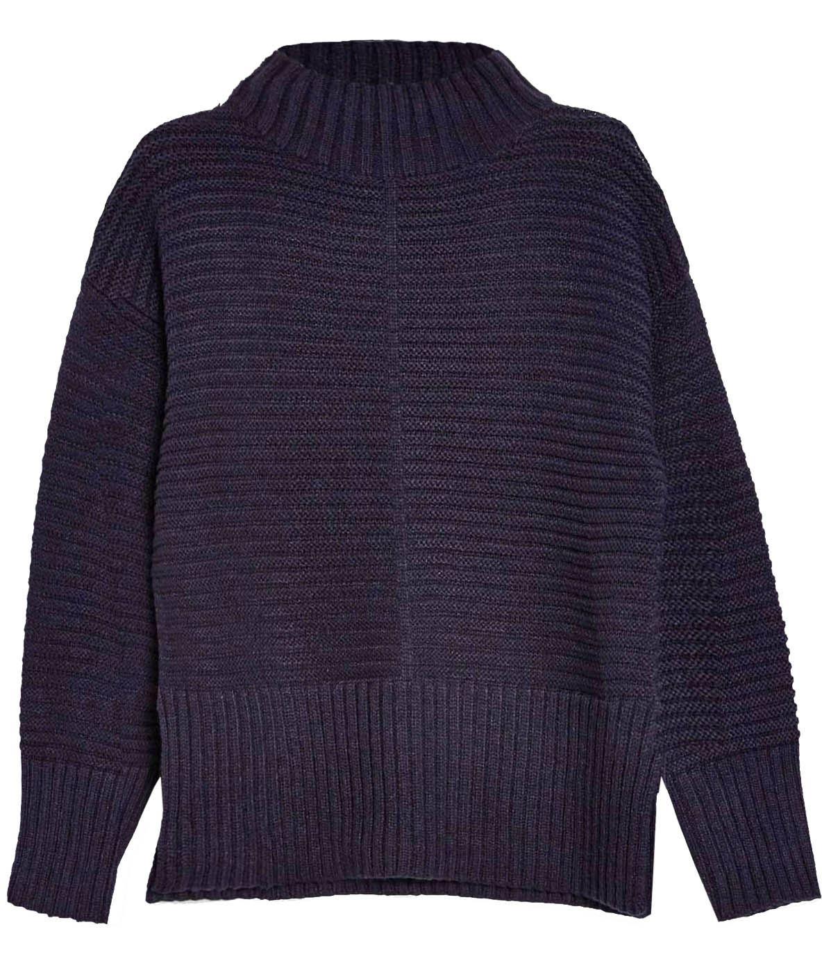 TOPSHOP Funnel Neck Rib Knit Weekend Casual Jumper Side SplitsSALERRP £36