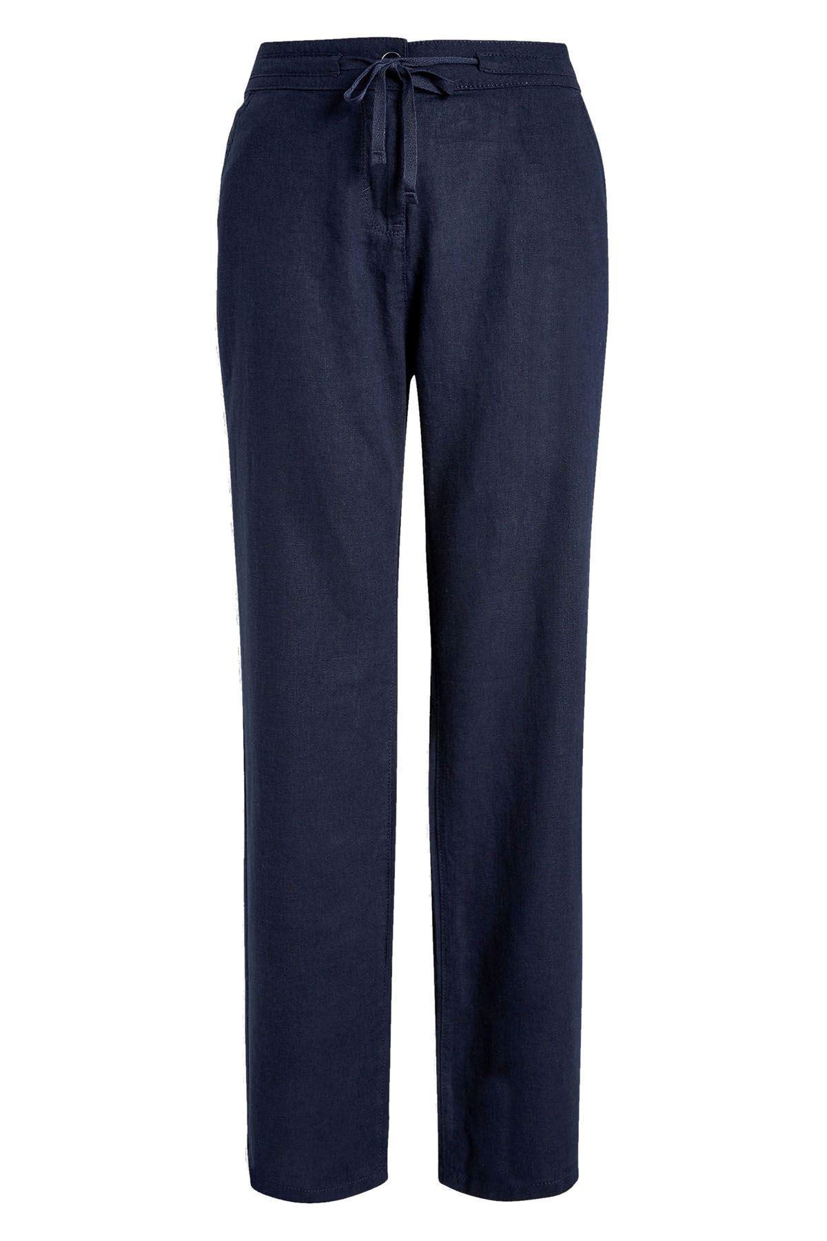 NEXT Linen Drawstring Straight Leg Casual TrousersSALEWas £22