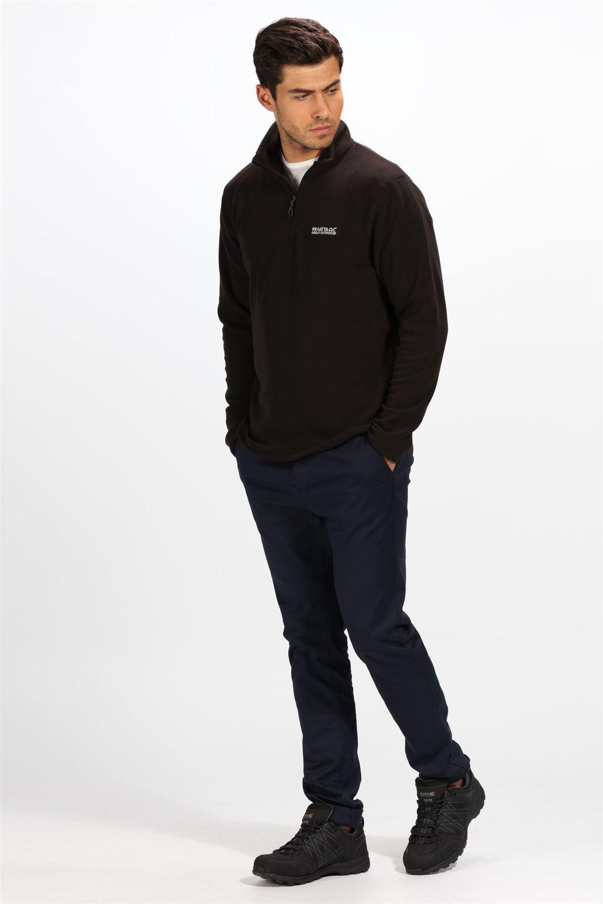 REGATTA Mens Quarter Zip Classic Lightweight Fleece SweaterSALERRP £25