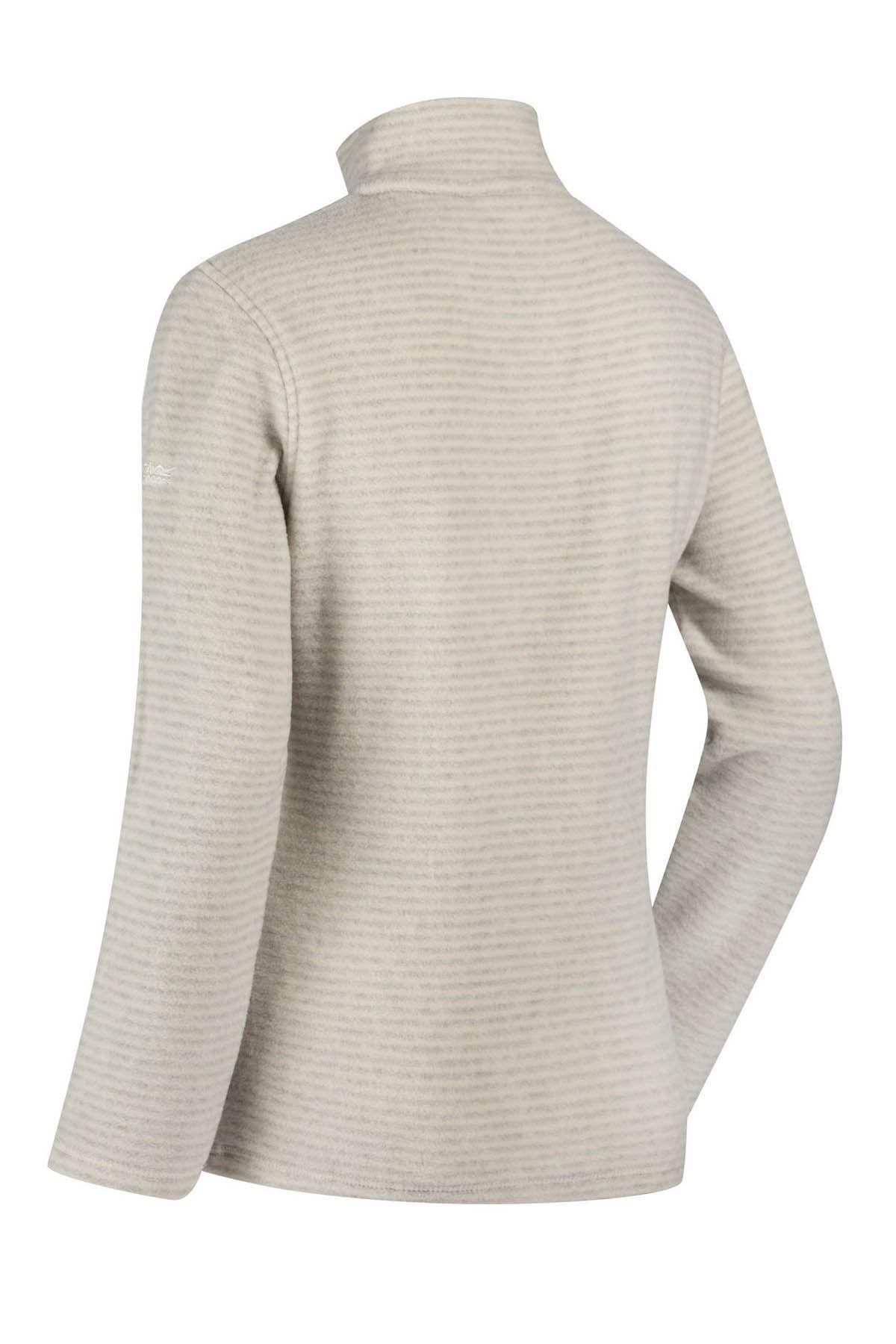 Regatta Womens Stripe Fleece Top With Half Zip Size 10 12 14 16