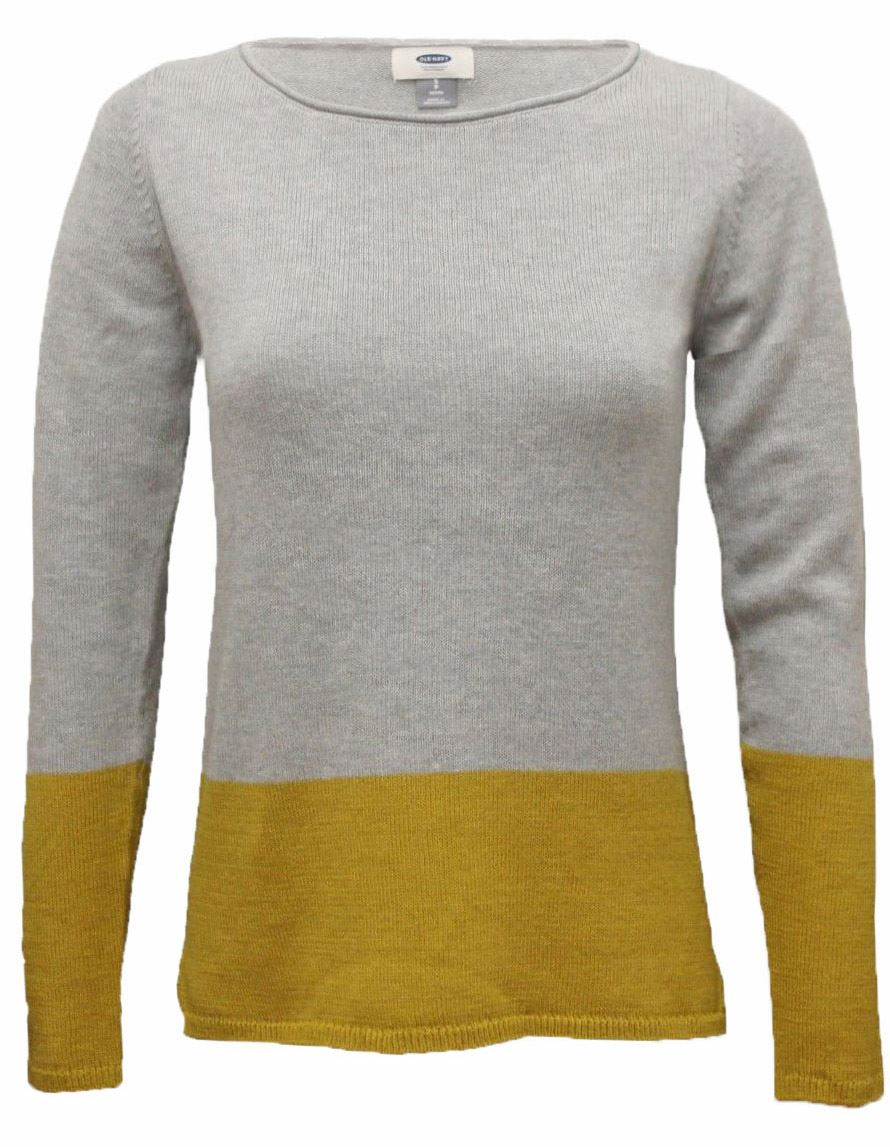Old Navy GAP Roll Edge Neck Two Tone Womens Jumper Top in Size XS M L XL 2XL