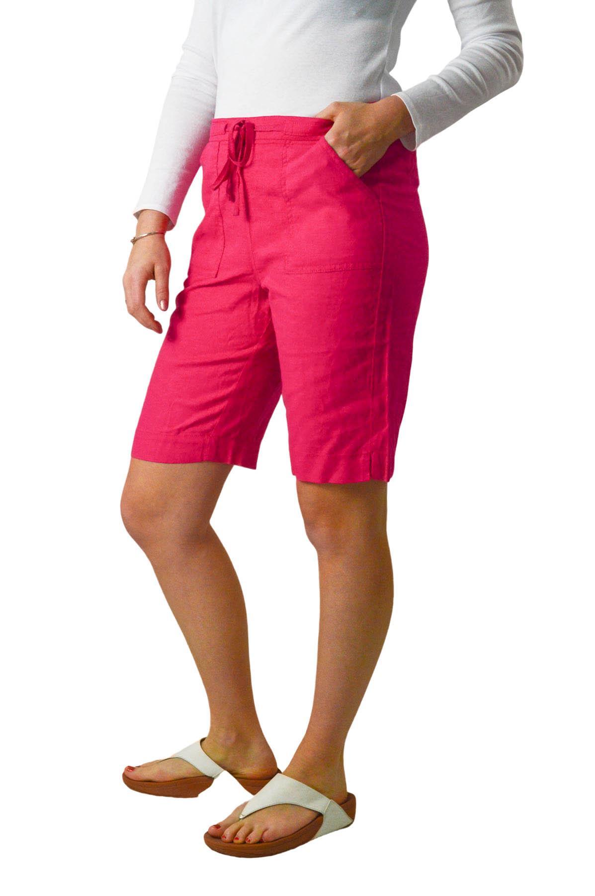 NEXT New Black Beige Pink LinenShorts Elasticated Waist Plus Size 10-24