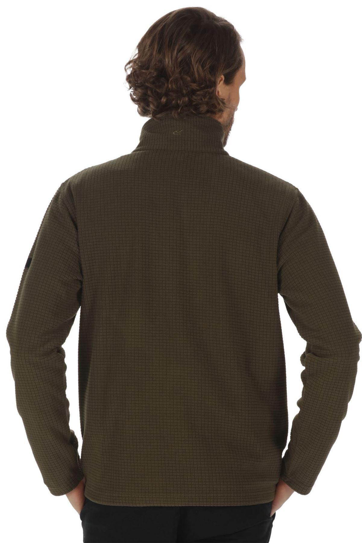 Regatta Elgon II Mens Grid Texture Fleece Half Zip Hiking Activewear