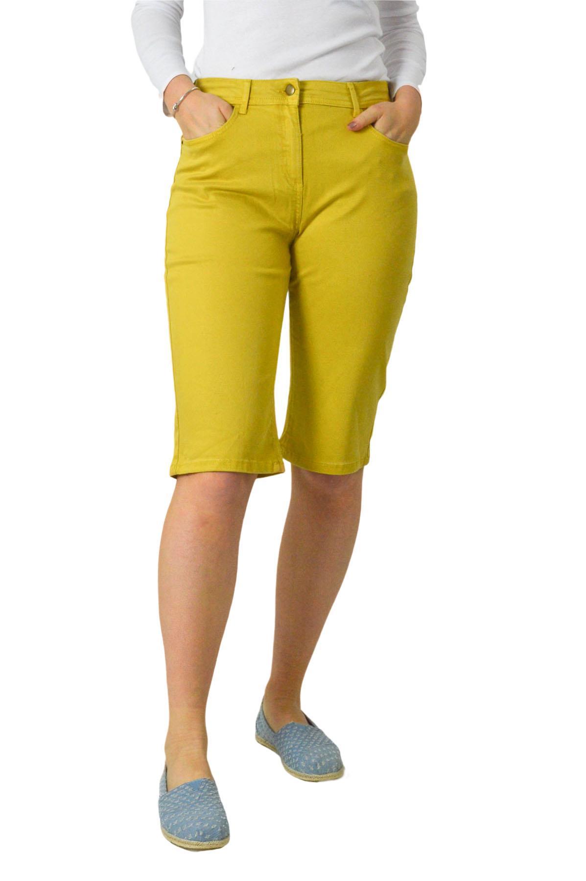 Ex N*xt Womens Soft Stretch Above Knee Shorts Pink Khaki Mustard Size 10-20