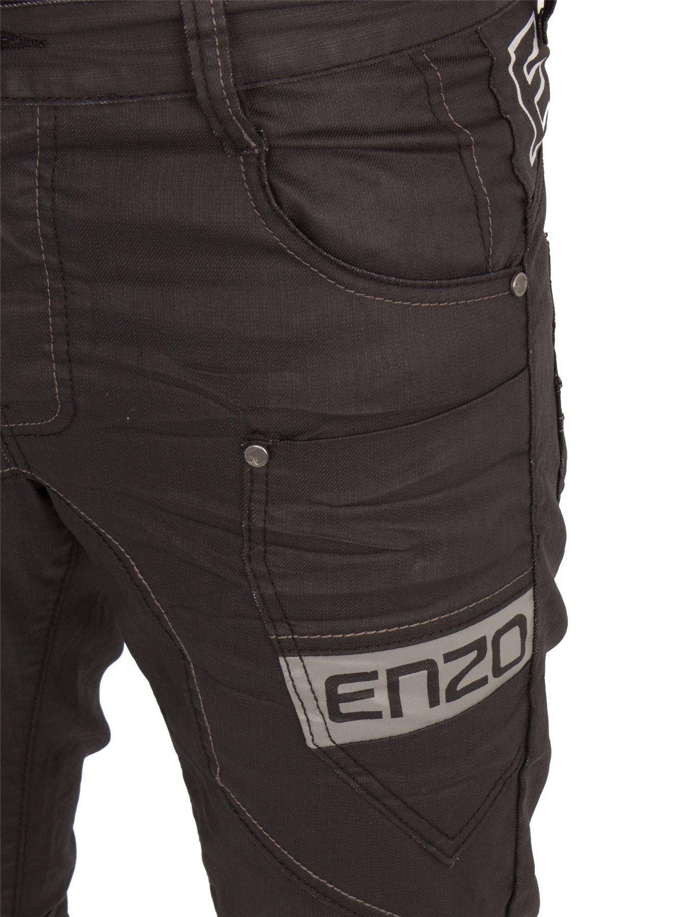 ENZO Pantaloni Cargo Combat da uomo Jeans pantaloni da lavoro in Denim Casual BIG TALL Tutti Girovita