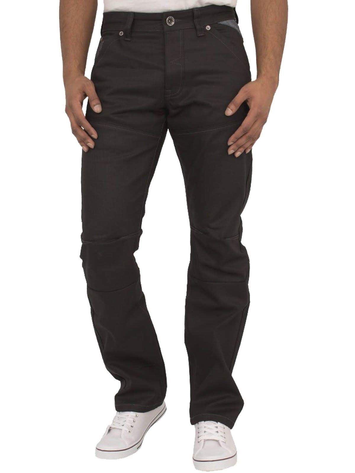 New Mens Enzo Straight Leg Jeans Designer Regular Fit Denim Trousers Pants