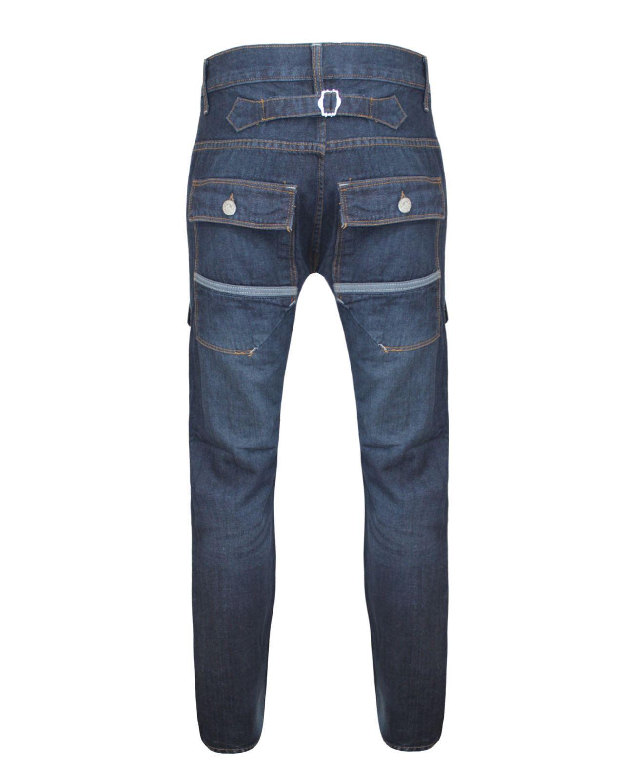 NUOVA linea uomo piena lunghezza Regolare Dritto Lungo Jeans Blu Pantaloni Da Uomo 30 32 34 36 38