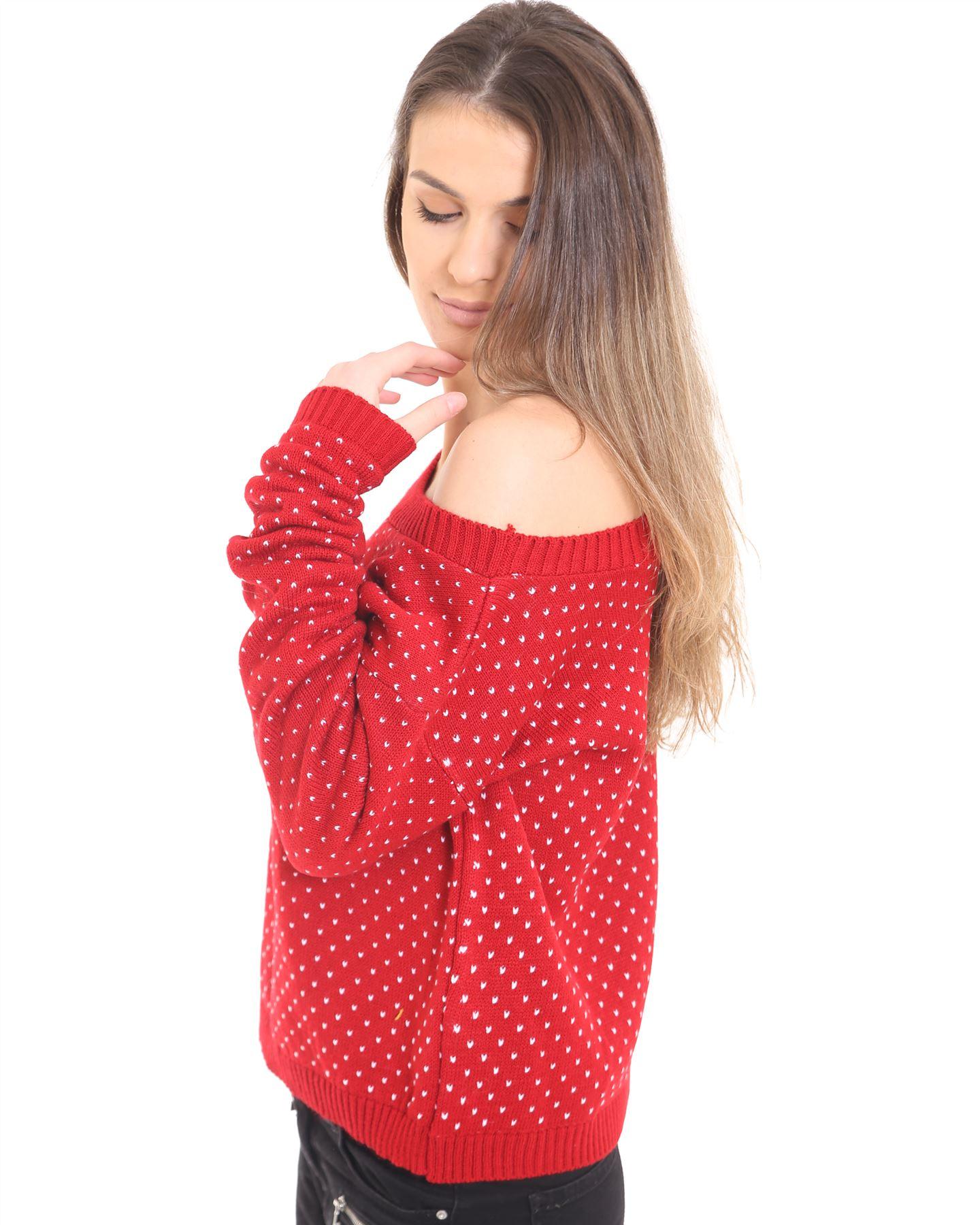 Ladies Women Knitted Long Sleeve OverSize Christmas Xmas Jumper Crop Top Sweater