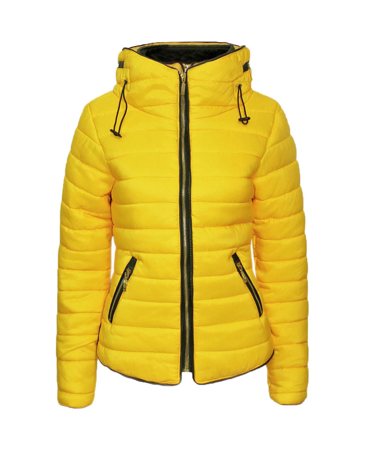 3f021a4bc970 New Ladies Womens Bubble Quilted Padded Puffer Fur Collar Warm Thick Jacket  Coat