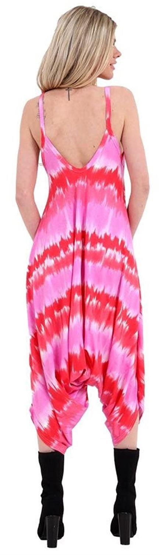 Nouveau Femme Imprimé Baggy Hareem Cami Lagenlook Ange Drapé Style Combinaison 8-26