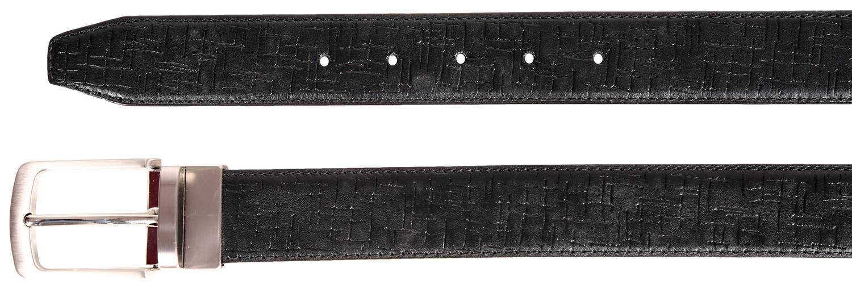 Da Uomo Classico in Pelle Multi Pattern Texture rotazione cinture fibbia in lega S-3XL