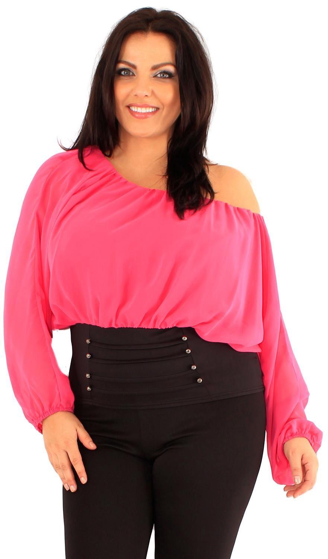 Ladies Chiffon Corset Hem Off Shoulder Batwing Sleeve Blouse Gypsy Tops 18-24