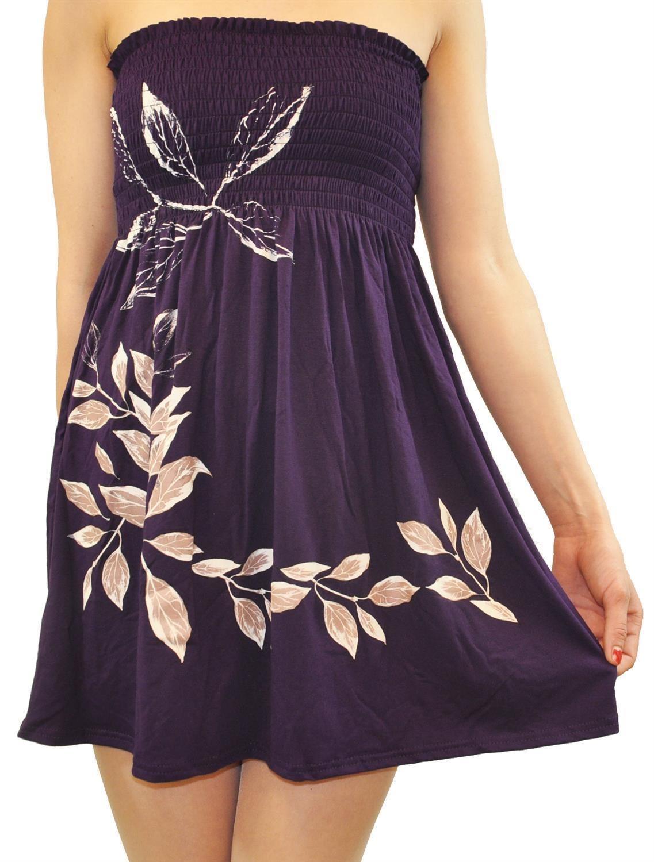 Femmes Plus Taille Violet bustier stretch rapport Boob Tube Ete Plage Tops