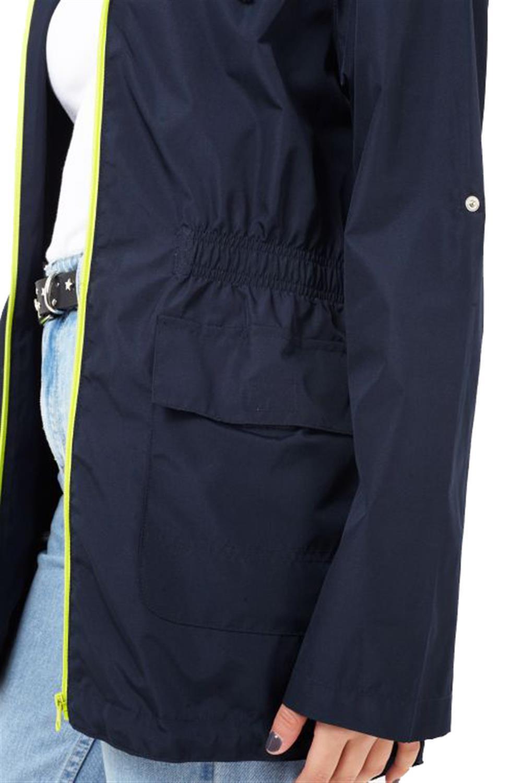 Womens Hooded Neon Contrast Zip Lightweight Showerproof Festival Raincoats 8-24