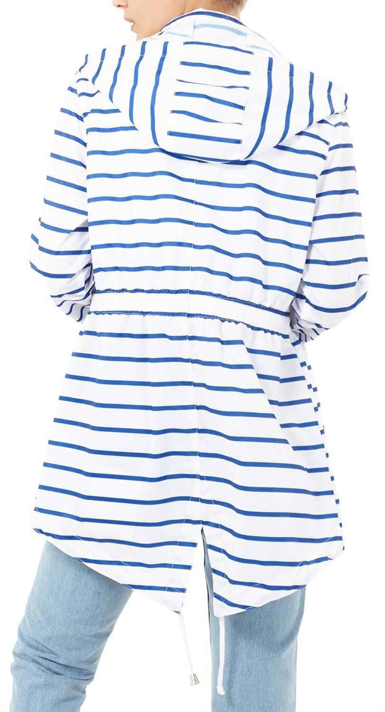 New Ladies Plain Printed Showerproof Mac Parka Hooded Fishtail Raincoats Jackets