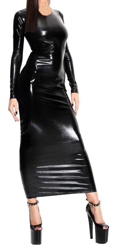 Branded New Trendy Womens Plus Size Shinny Wetlook PVC Skirts Tops Dress