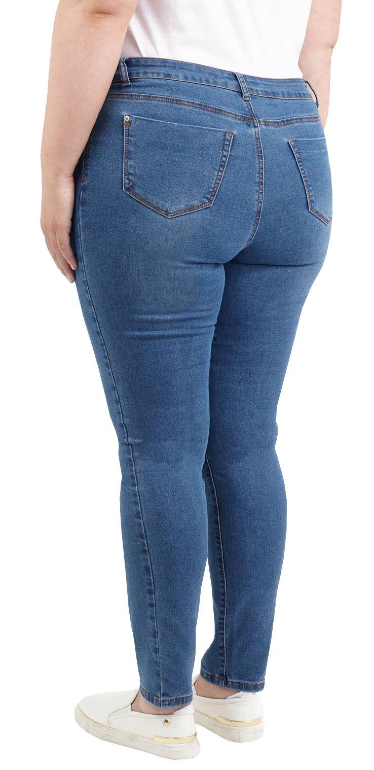 Da Donna Brave Soul Qualità Slim Fit Comfort Stretch Denim Jeans Pantaloni 16-22