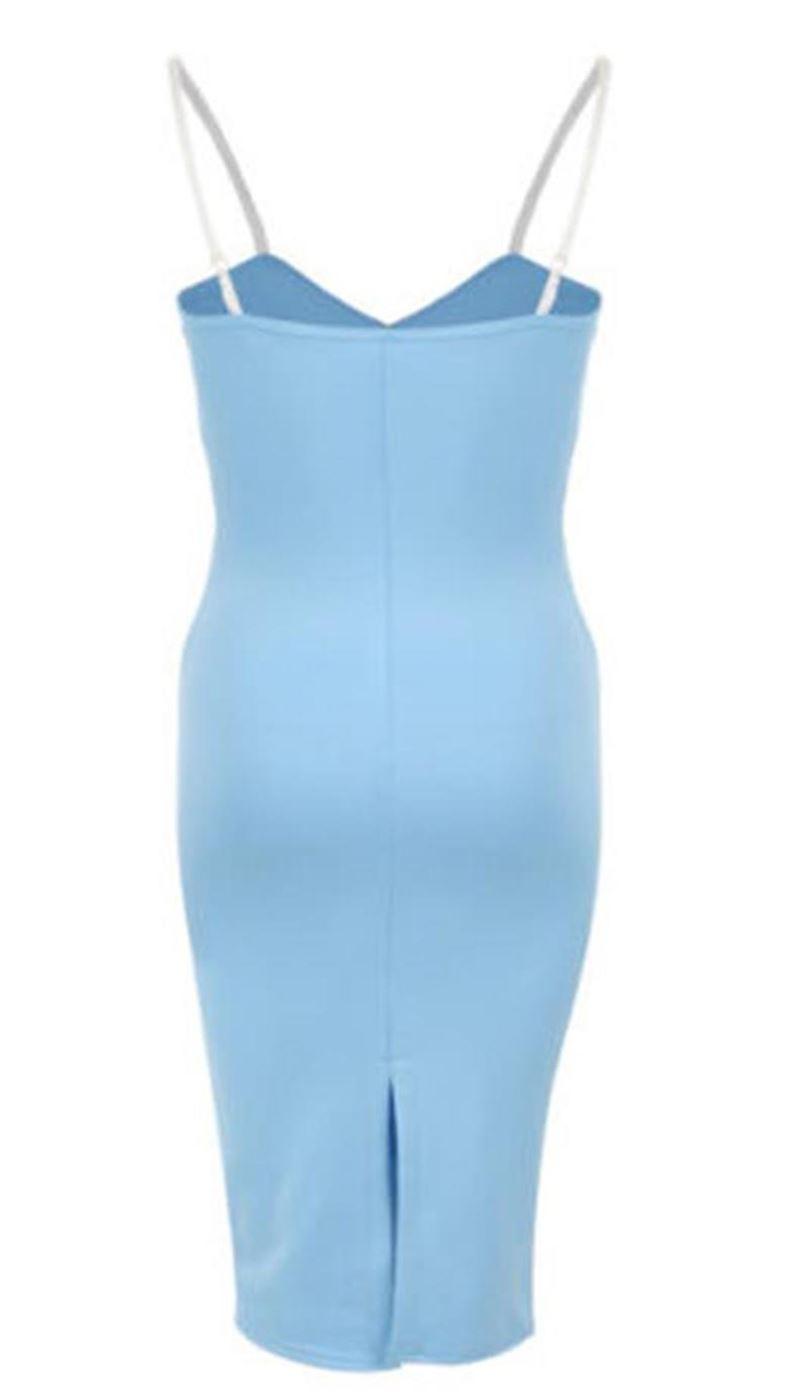New Womens Cami Strappy Floral Detail Bodycon Midi Dress 8-22