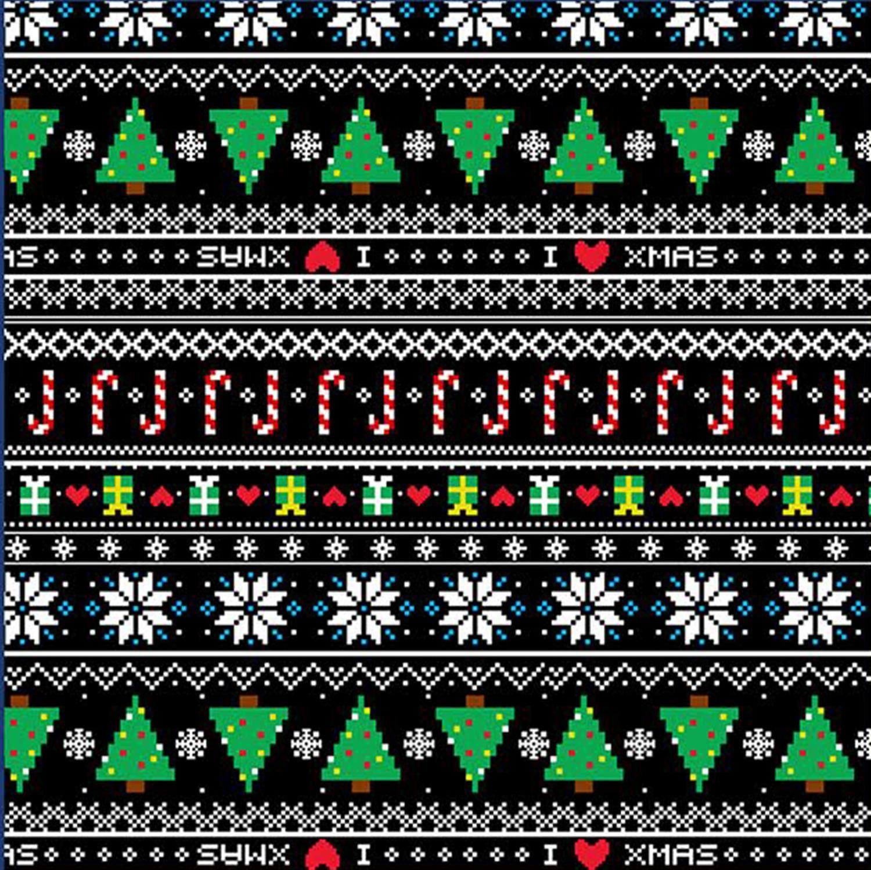 NUOVI Donna Natale Babbo Natale Azteco Ginger Bread Fiocchi di neve in Pile Pullover Maglione Top