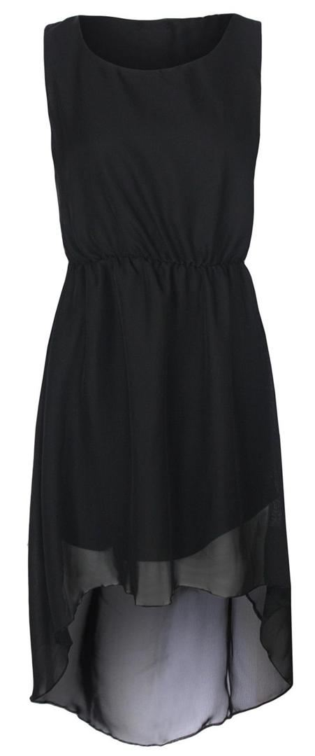 New Womens Dip Hem Chiffon Maxi Dress High Low Party Dress 8-14