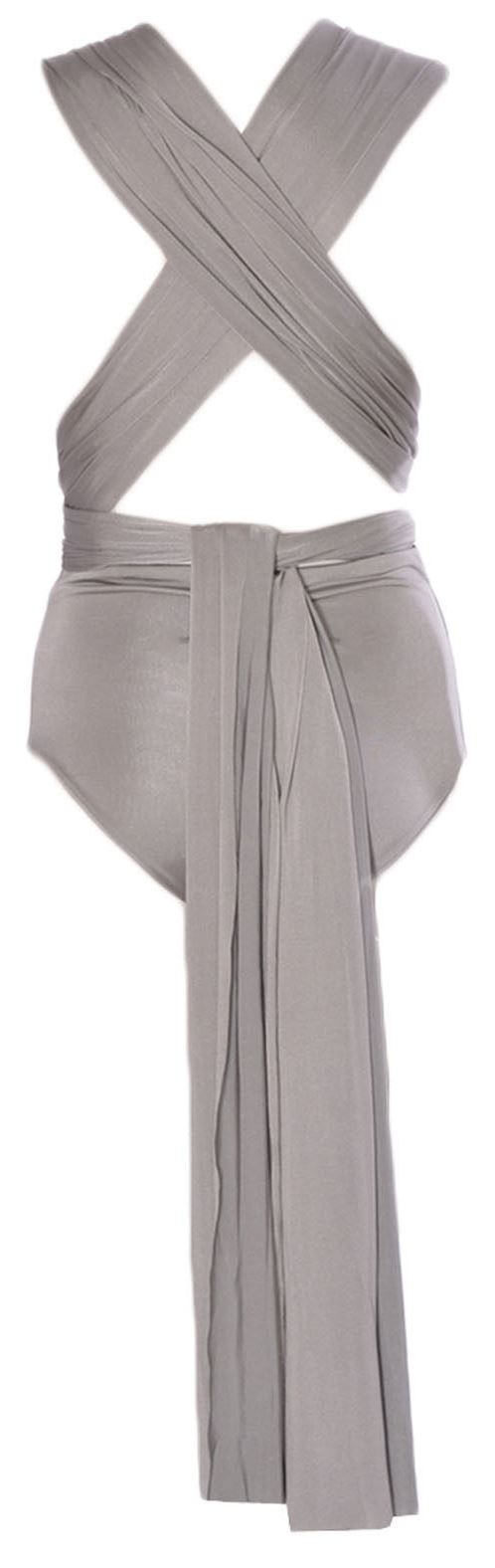 New Womens Multi Way Slinky Wrap Over Bodysuit Leotard Top