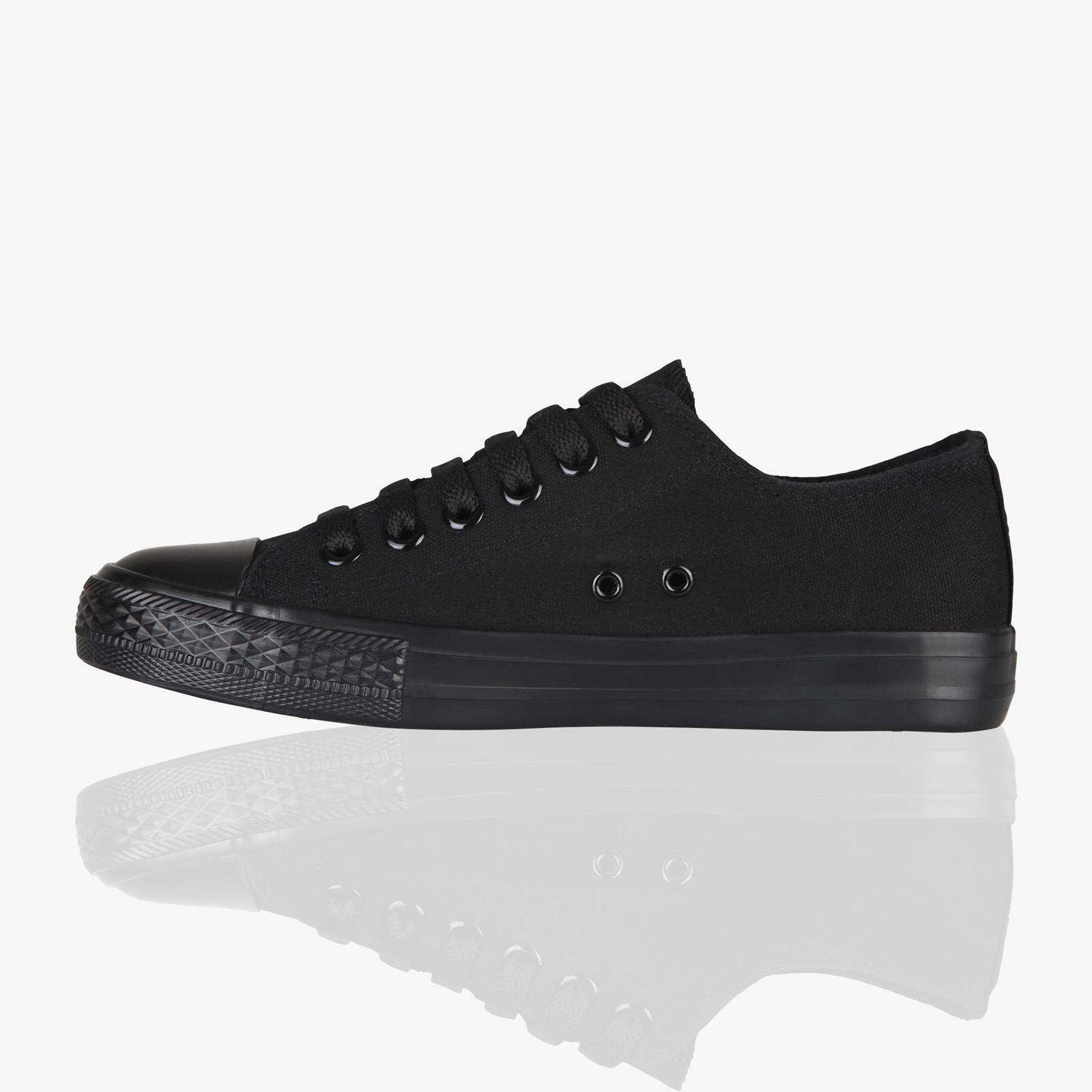 Women Low Top Trainers Sneakers Classic Canvas Lace Up Pumps Flat Shoe Sizes 3-8